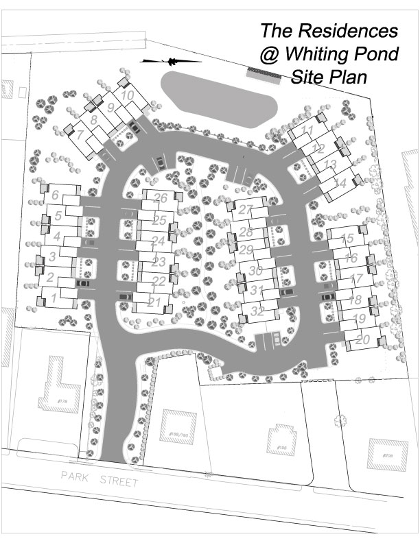 Site plan whitman homes for Site plan dimensions