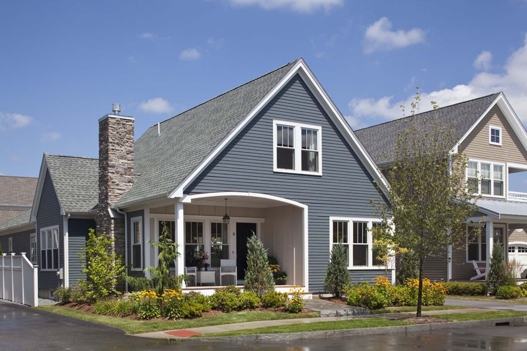 Картинки домов серая крыша